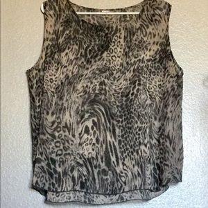 Easy Breezy Silk Animal Print Tunic Top L to XL